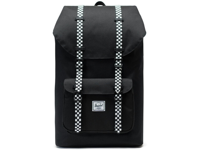 Herschel Little America Backpack 25L, black/checkerboard